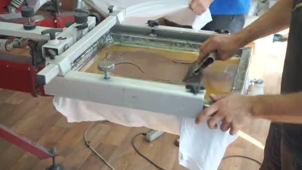Tisk obrazovky výroba na trička