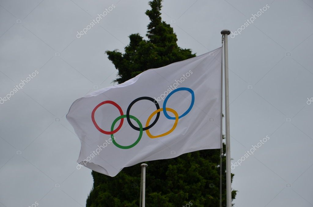 Symbol Of The Olympic Games Five Olympic Rings Blue Yellow