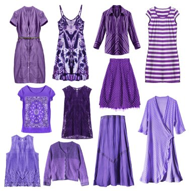 Purple clothes isolated
