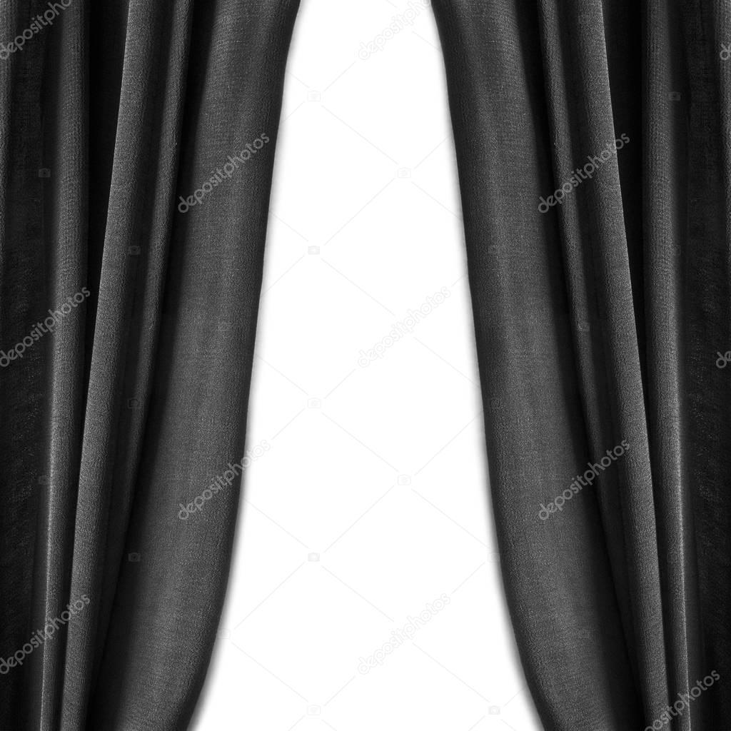 Zwarte gordijnen geïsoleerd — Stockfoto © Tarzhanova #129238820