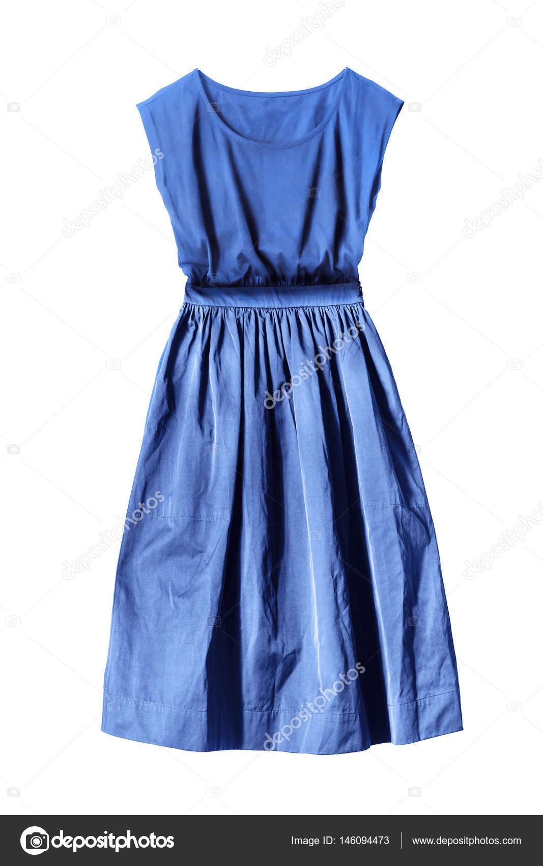 Blaues Kleid isoliert — Stockfoto © Tarzhanova #146094473
