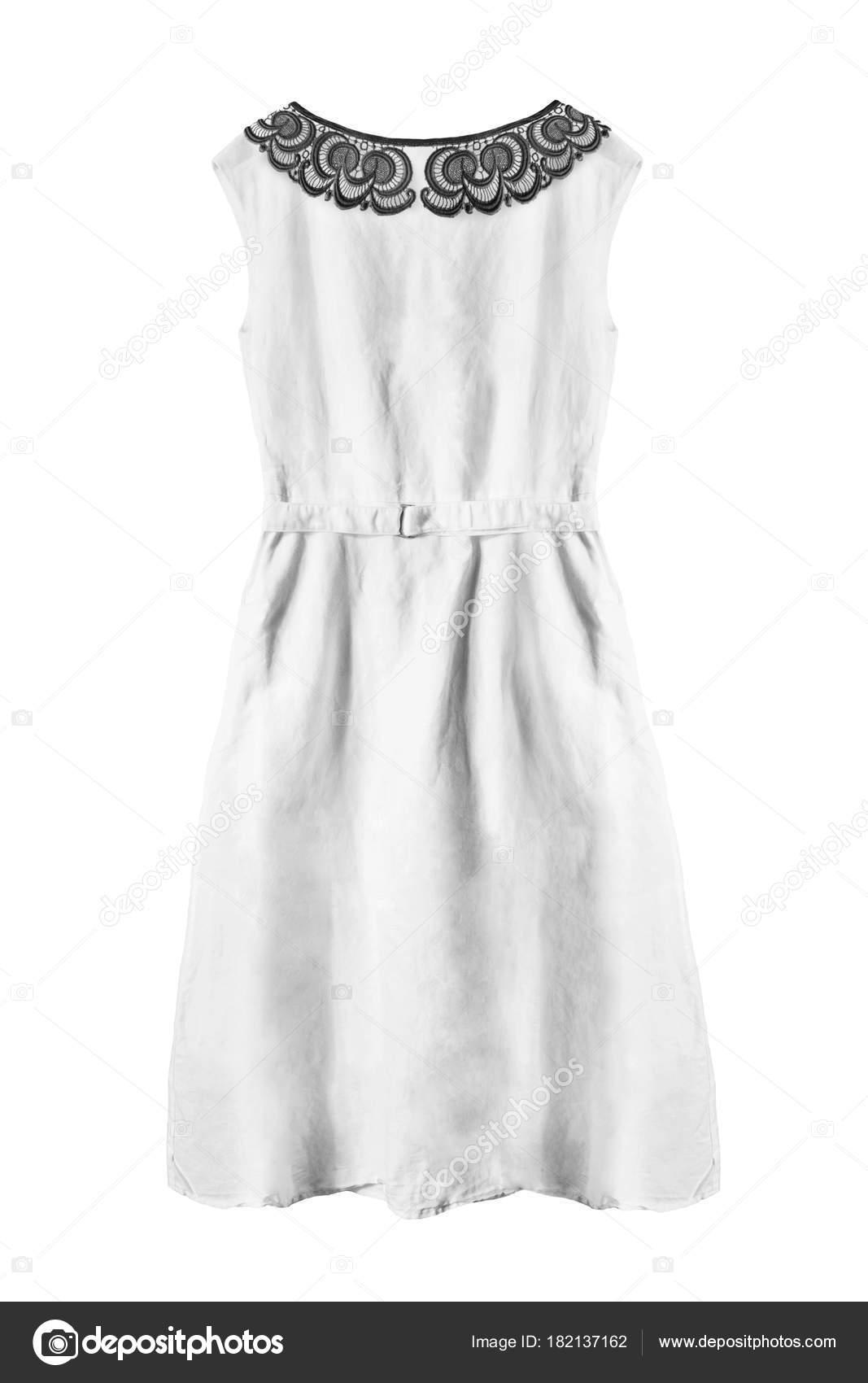 1582b449f1 Biała sukienka na białym tle — Zdjęcie stockowe © Tarzhanova  182137162