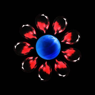 Crystal flower isolated