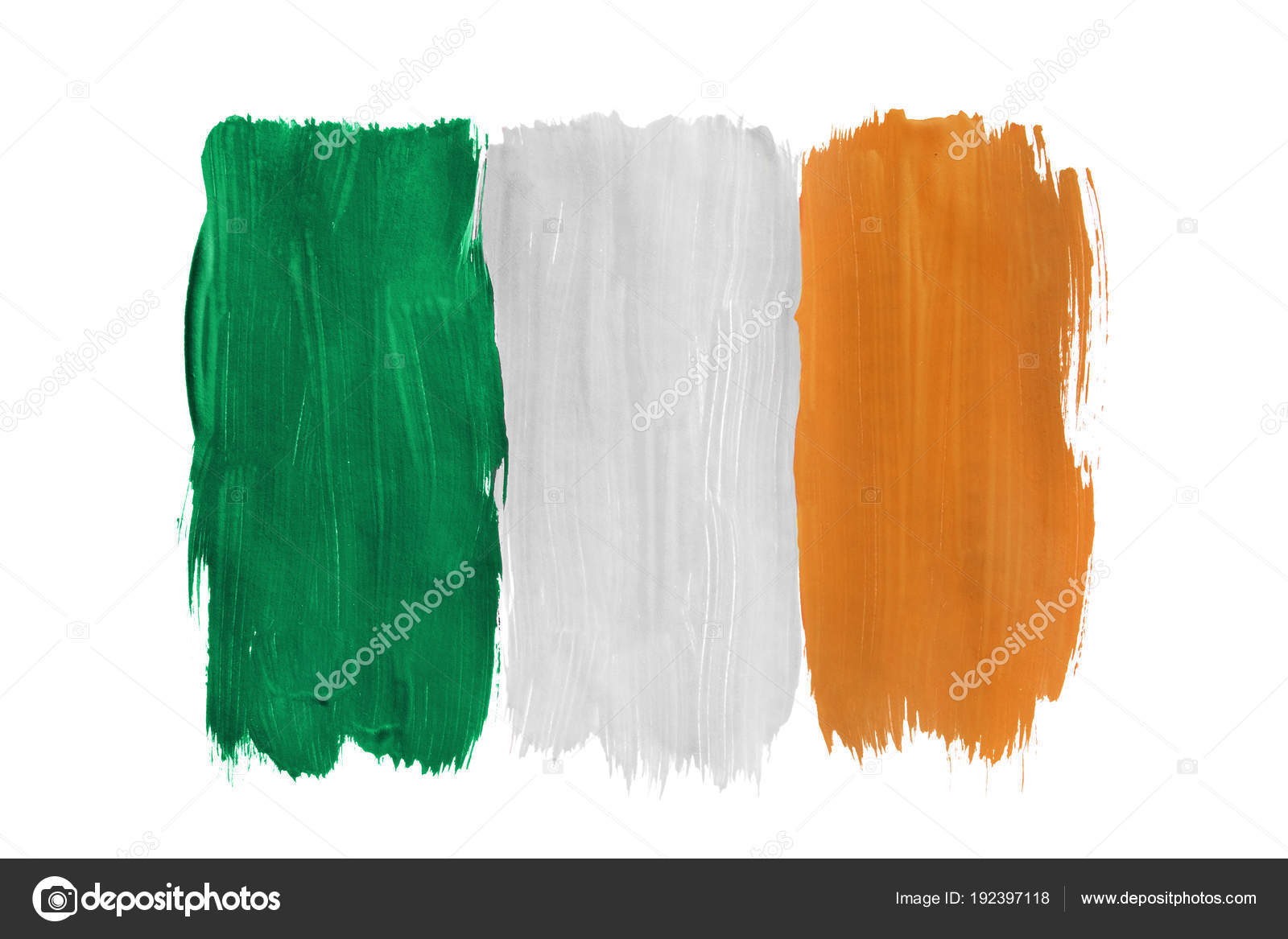 Italian Flag Wallpaper Iphone Painted Irish Flag Isolated