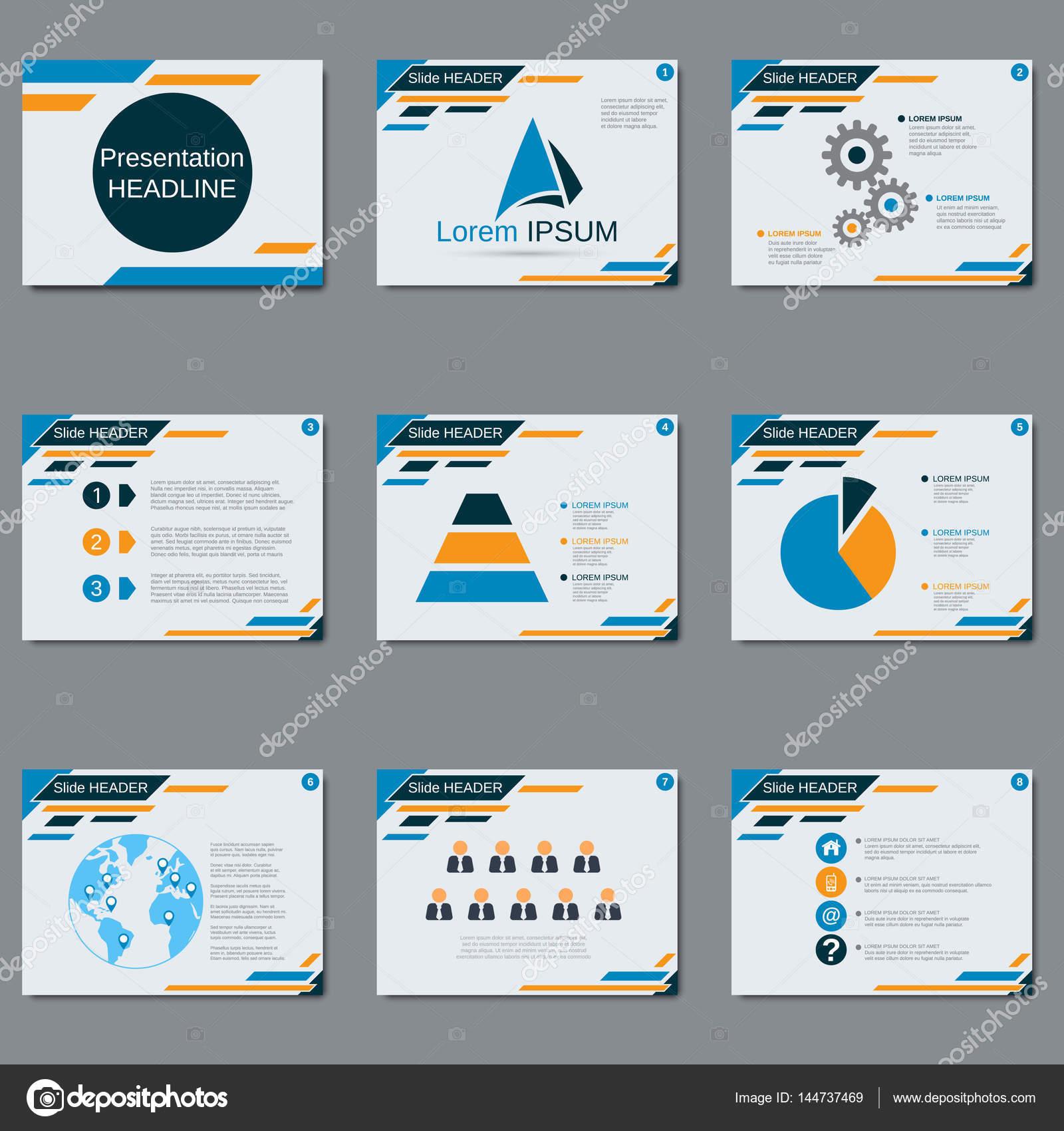 Plantilla de diseño de vector de presentación profesionales — Vector ...