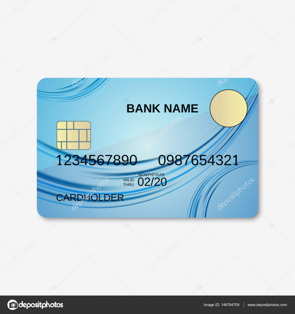 bank card credit card discount card design template vector by ulvur