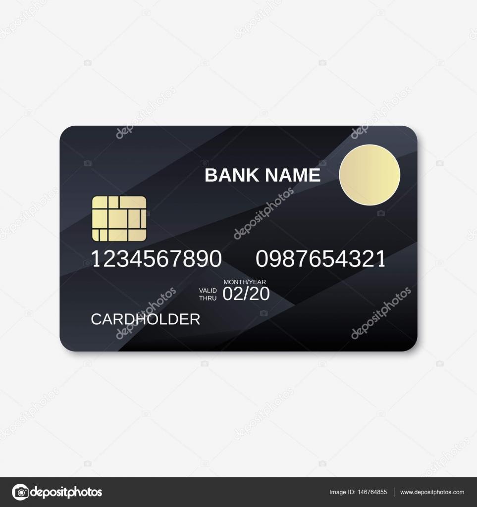 Bank card, credit card, discount card design template — Stock ...