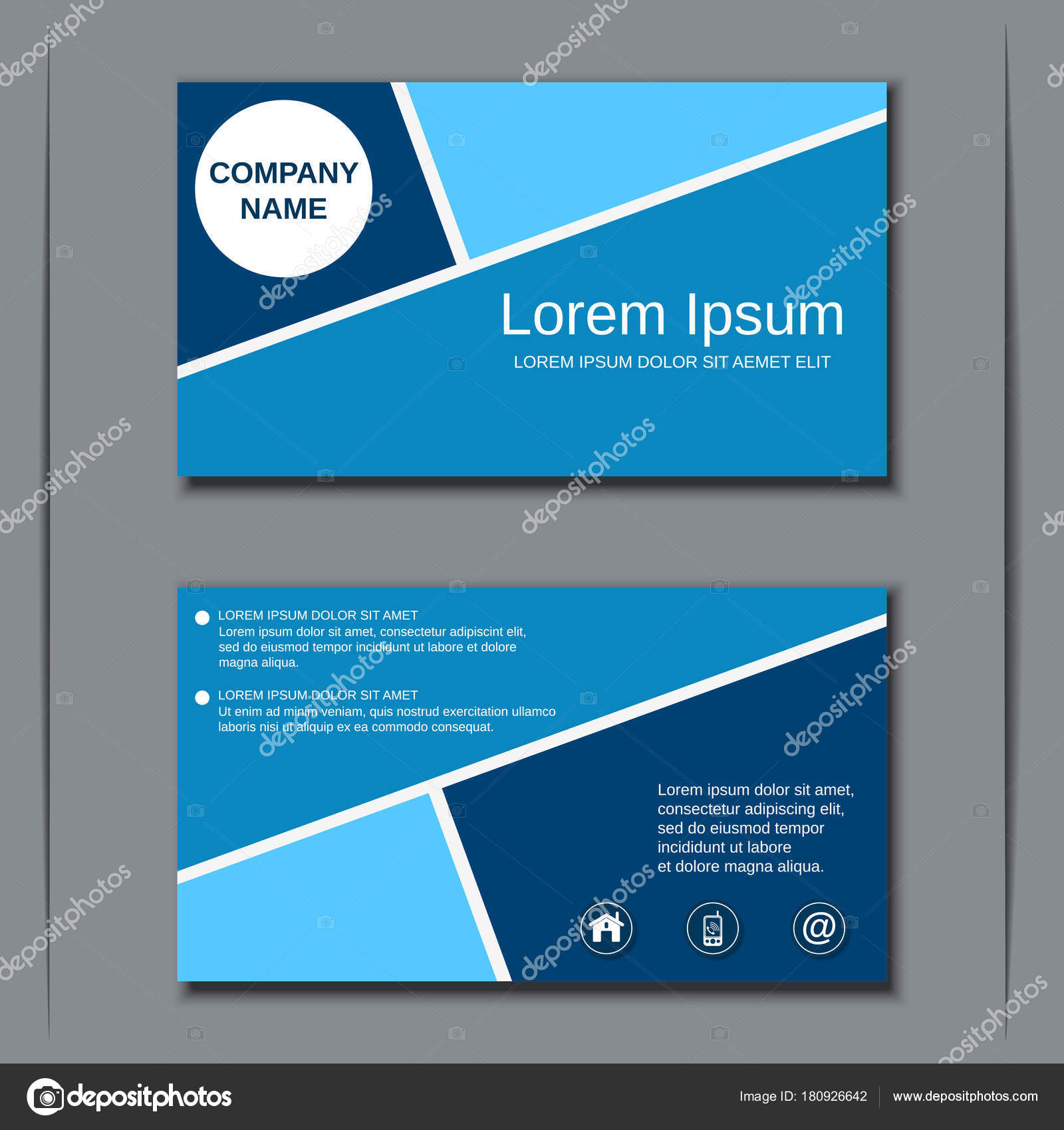Business visiting card vector design template stock vector ulvur modern professional business visiting card badge label sticker vector design template vector by ulvur reheart Choice Image