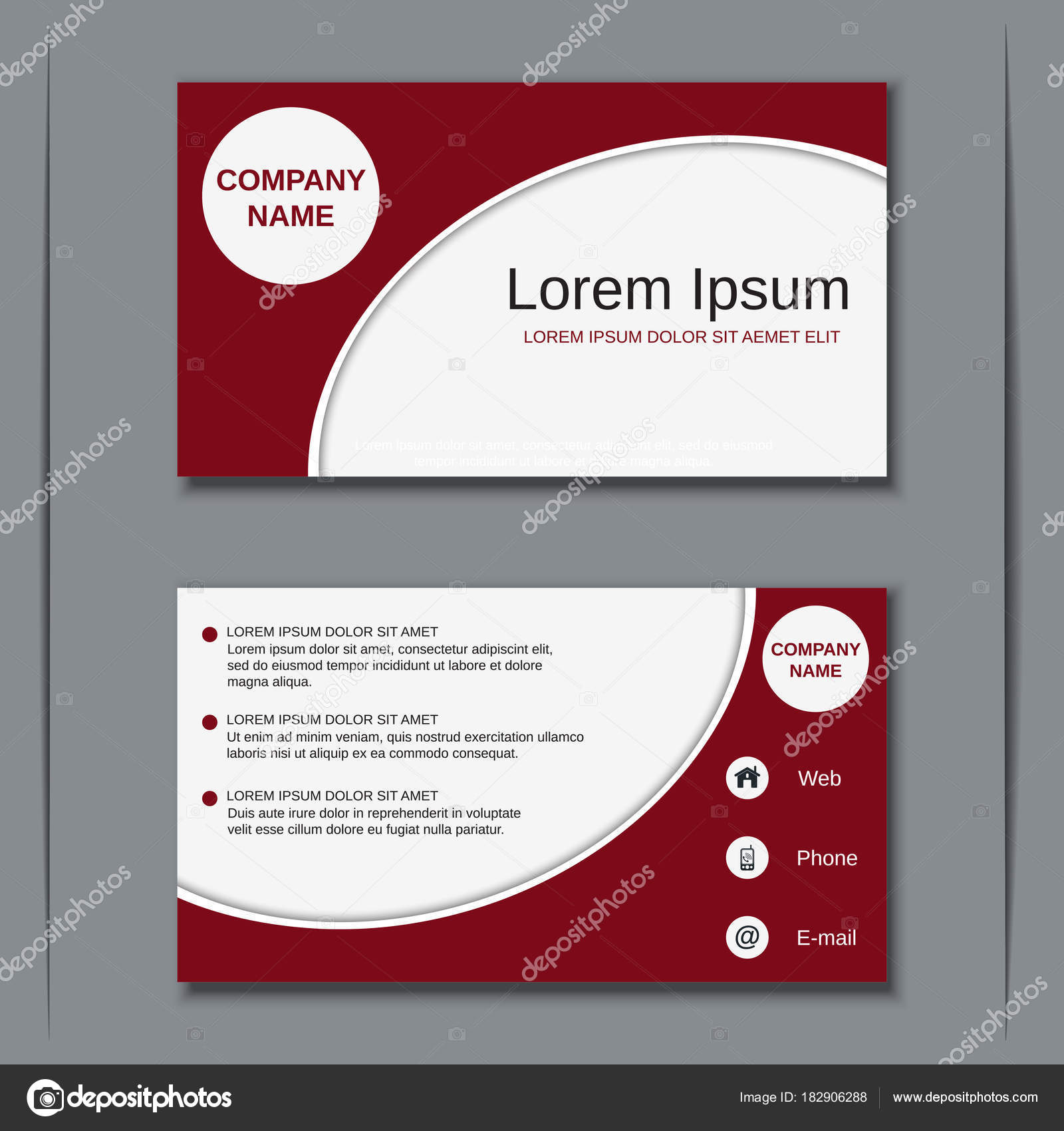 Business visiting card vector design template stock vector ulvur modern professional business visiting card badge label sticker vector design template vector by ulvur reheart Gallery