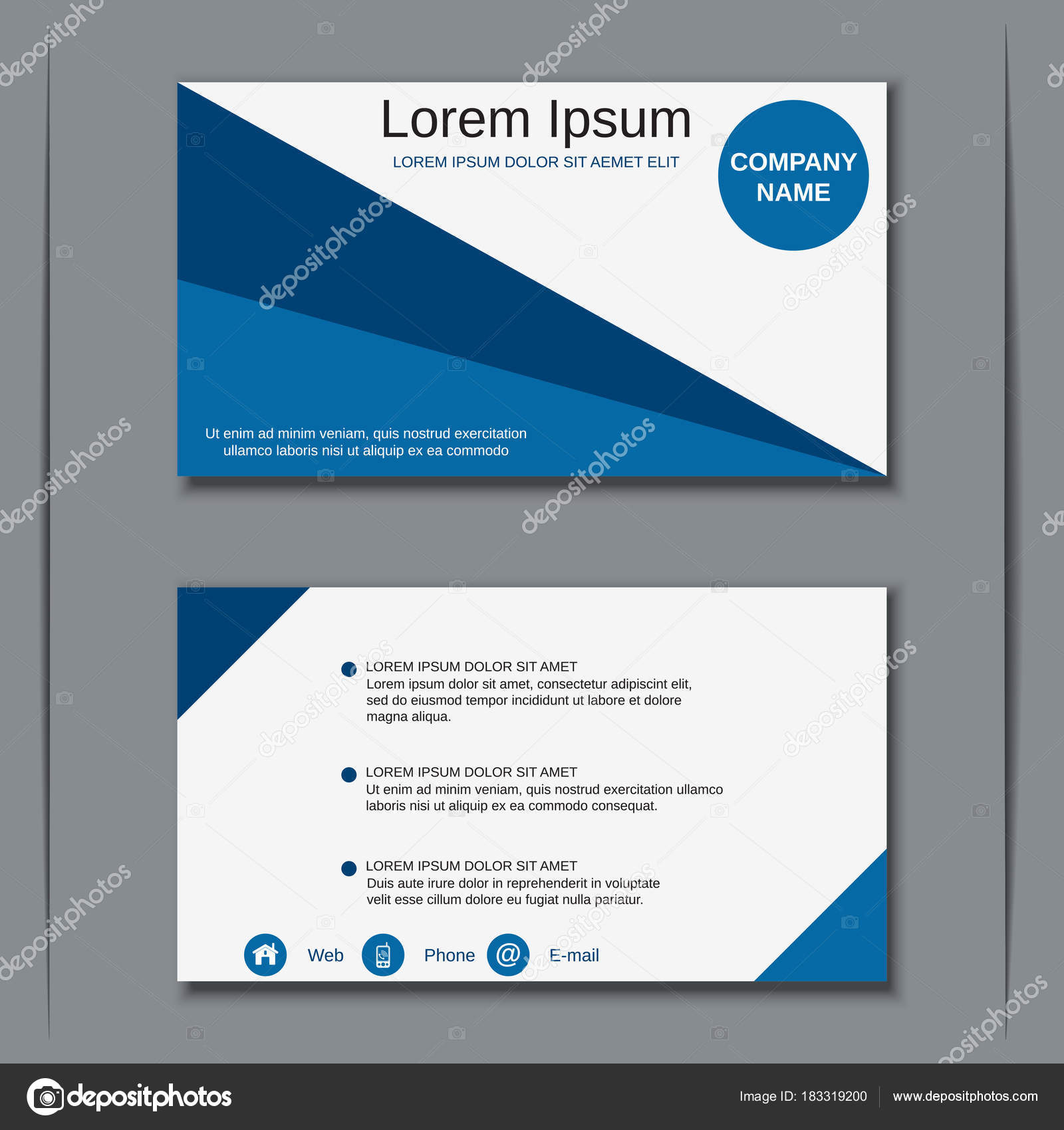 Business visiting card vector design template — Stock Vector © Ulvur ...