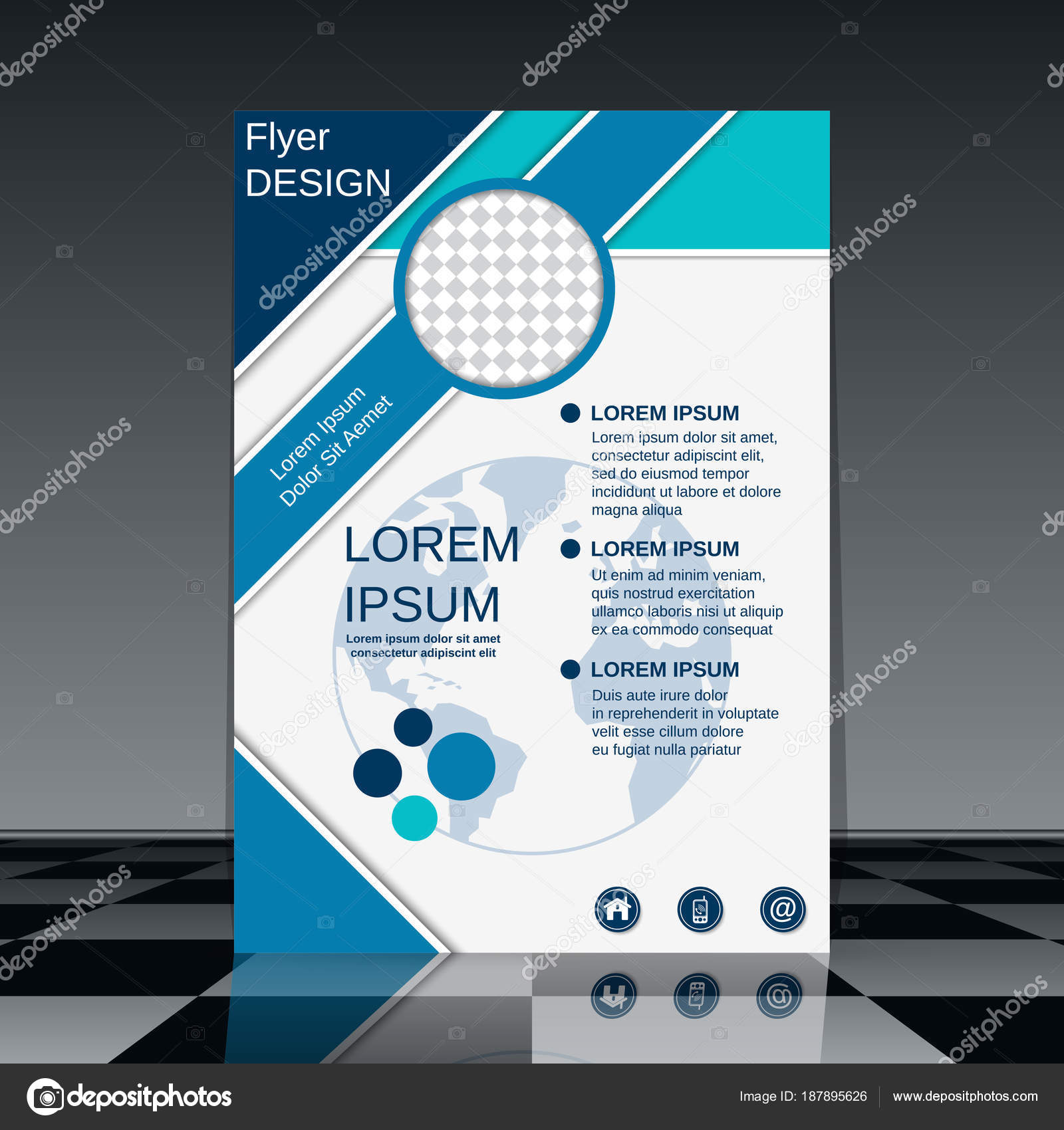 professional flyer vector design template stock vector ulvur