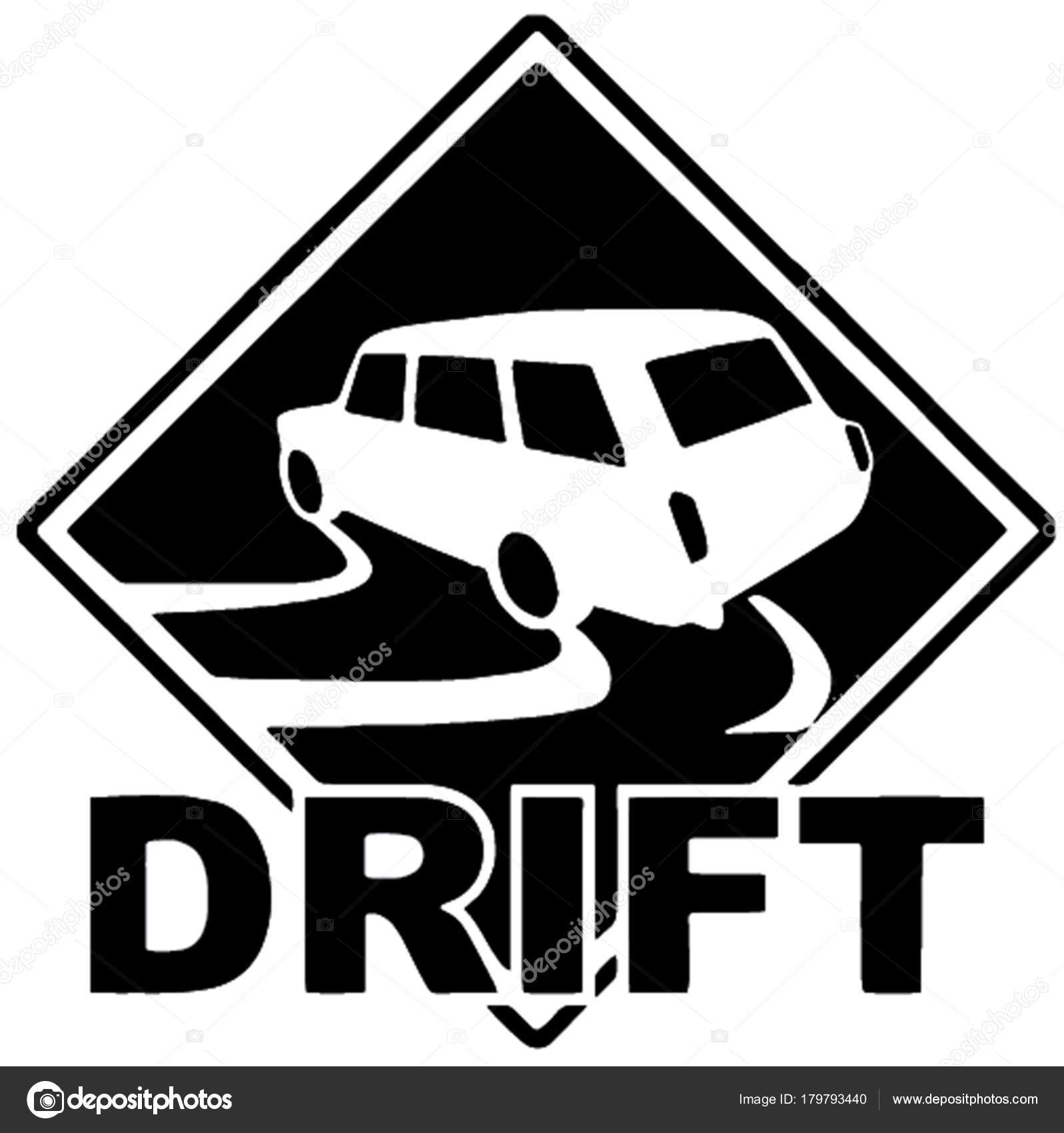 Sticker car drift vector image drifting car vaz 2102 ideal stock vector