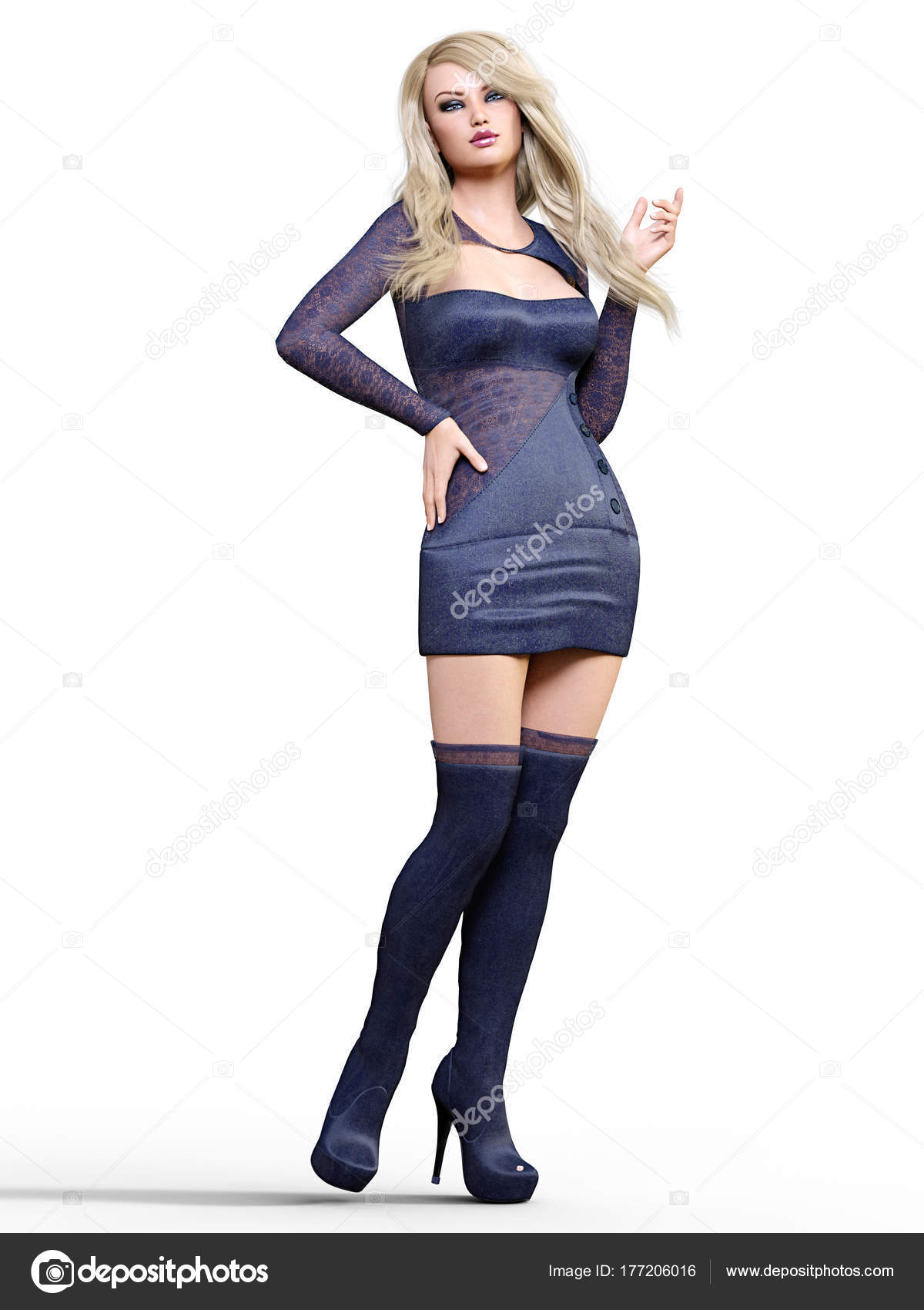 short dress and boots