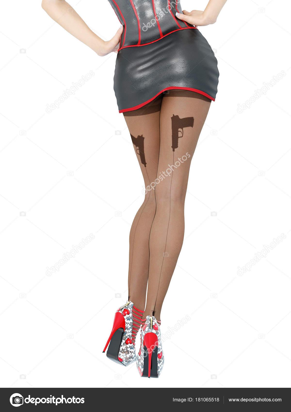 Sexy woman in nylon