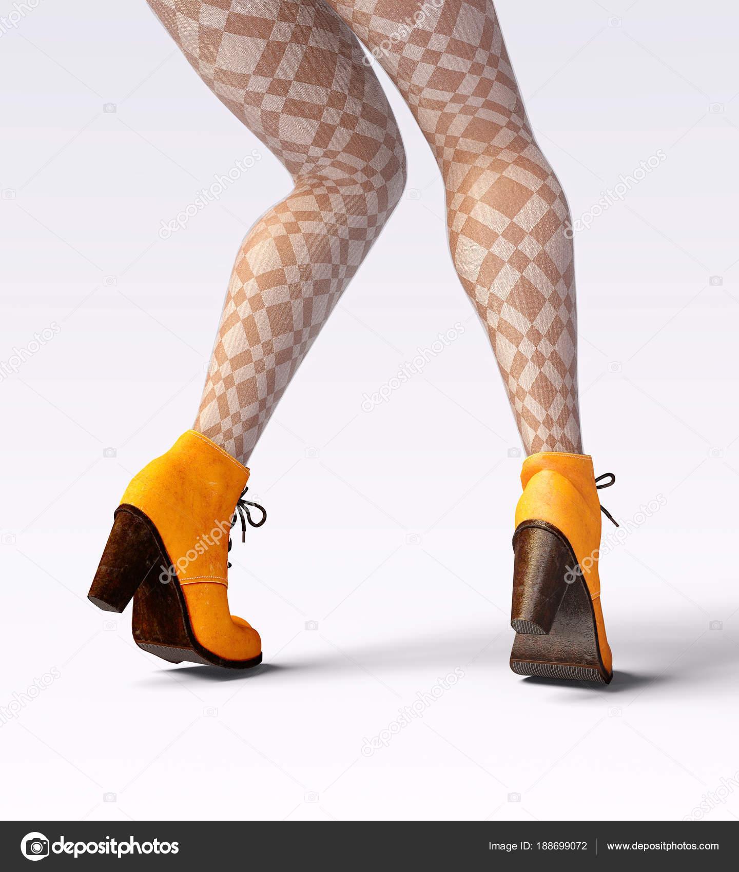 006cf79e571 Όμορφα Γυναικεία Πόδια Μάλλινα Κολάν Και Μισό Χάντρες Σέξι Λεπτή —  Φωτογραφία Αρχείου