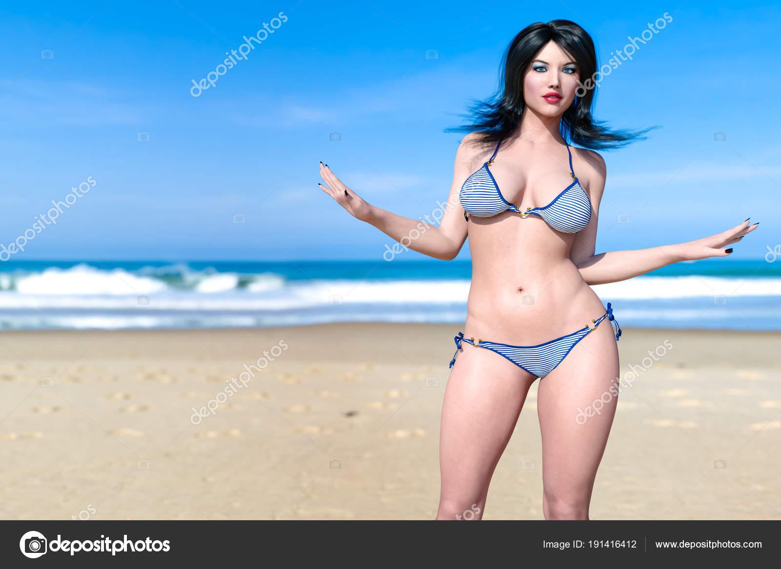 Толстые девушки на пляже и их откровенные фото