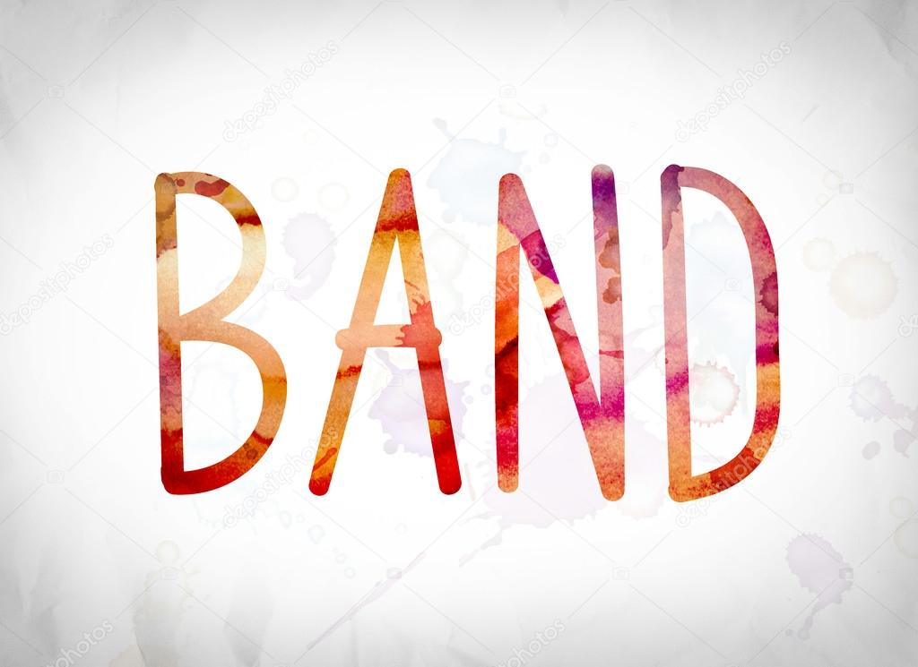 Band Concept Watercolor Word Art — Stock Photo ...