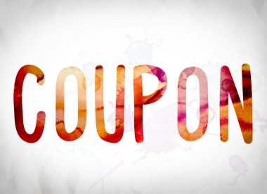 Coupon Concept Watercolor Word Art