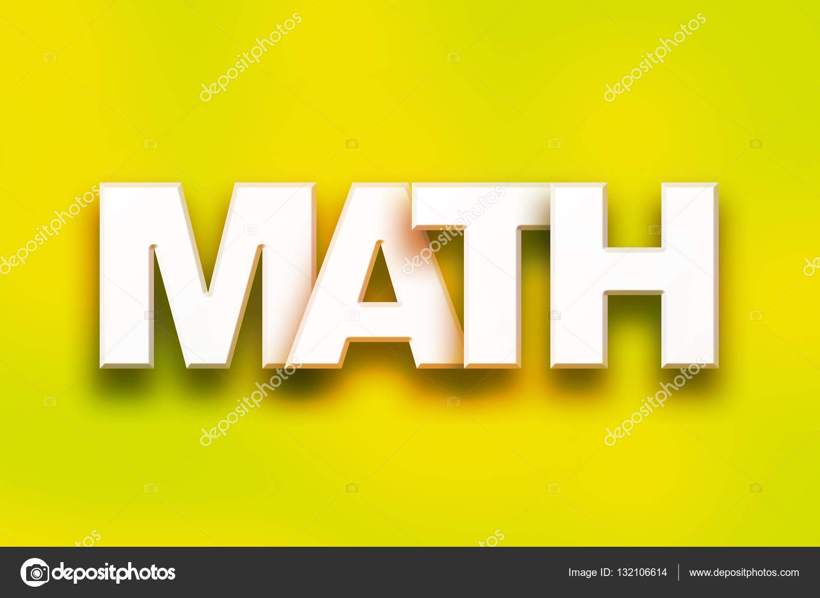 math concept colorful word art — stock photo © enterlinedesign