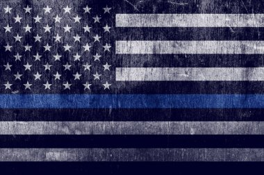 Aged Textured Police Support Flag Background