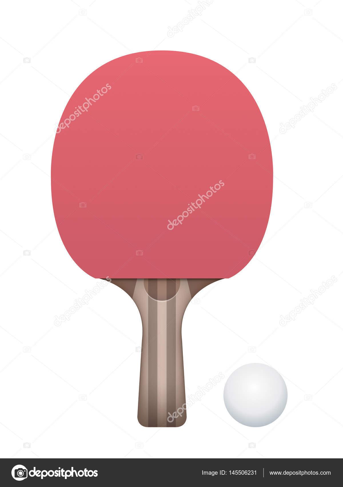 079612ca7 Raquete de tênis de mesa e ilustração de bola — Vetores de Stock ...