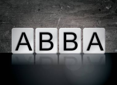 Abba Concept Tiled Word