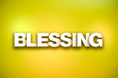 Blessing Theme Word Art on Colorful Background