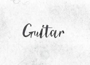 Guitar Concept Painted Ink Word and Theme