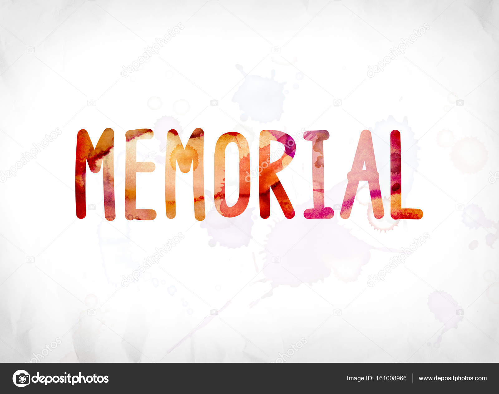 memorial concept painted watercolor word art stock photo
