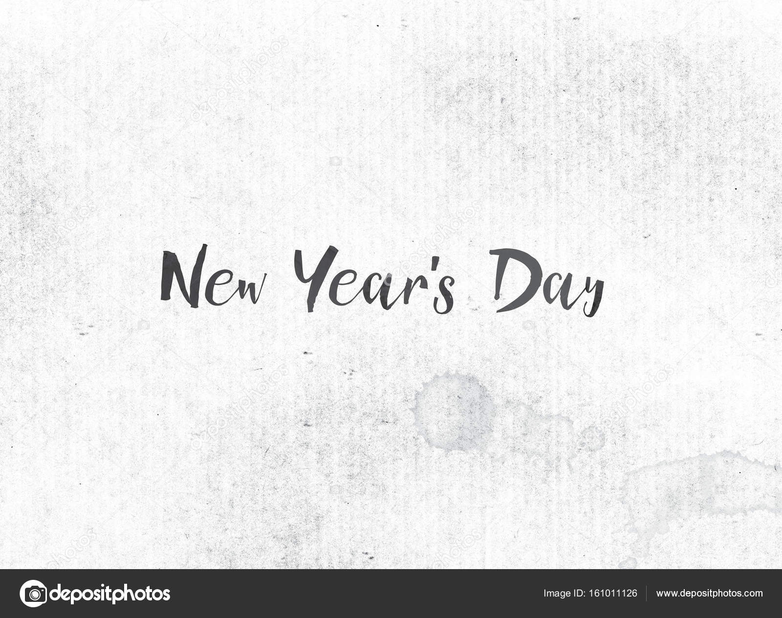 New Year\'s Day Concept Painted Ink Word and Theme — Stock Photo ...