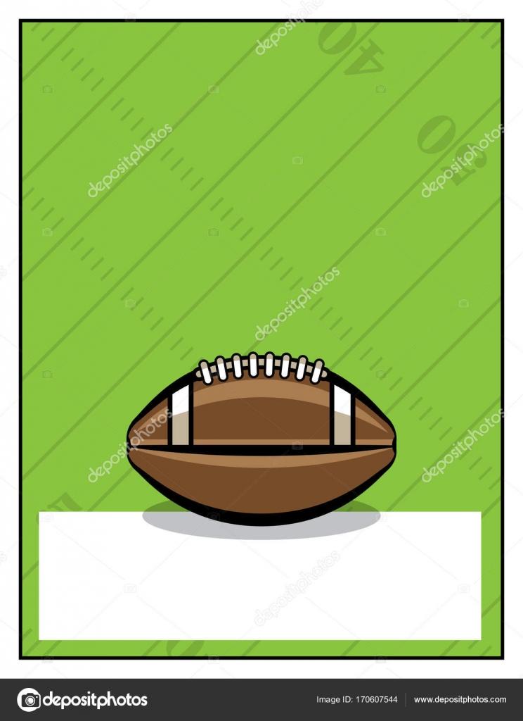 American Football Flyer Template Illustration Stock Vector