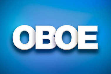 Oboe Theme Word Art on Colorful Background