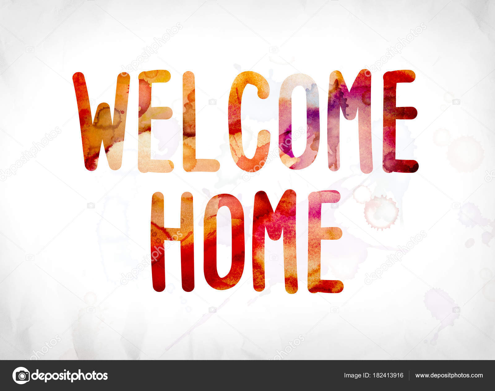 Welcome Home Concept Painted Watercolor Word Art — Stock Photo ...