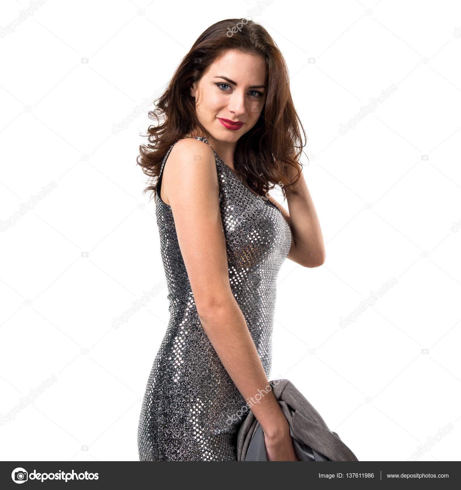 schöne Frau in einem Party-Kleid — Stockfoto © luismolinero #137611986
