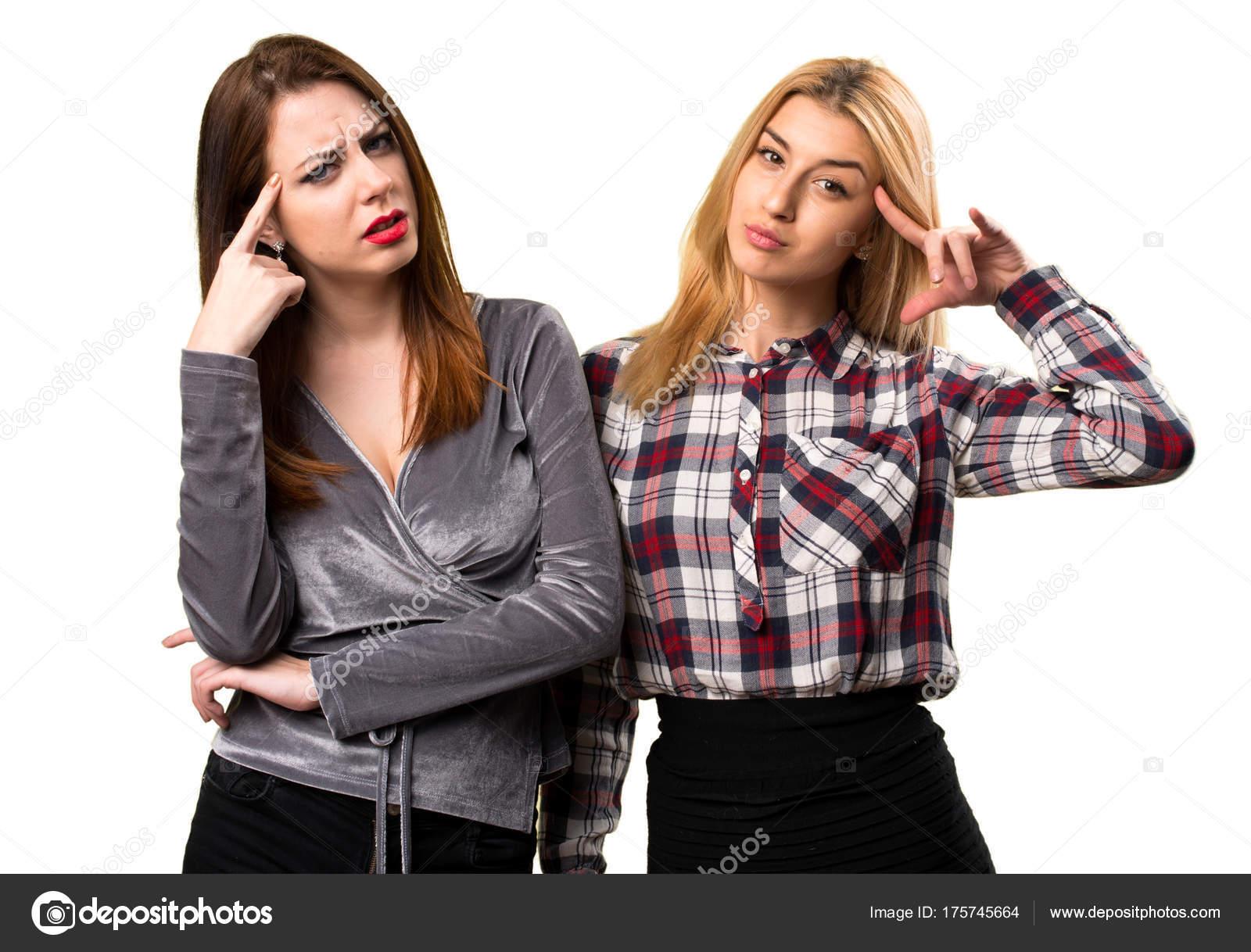 f862613c9bf73 Dos amigos haciendo el gesto loco — Fotos de Stock © luismolinero ...