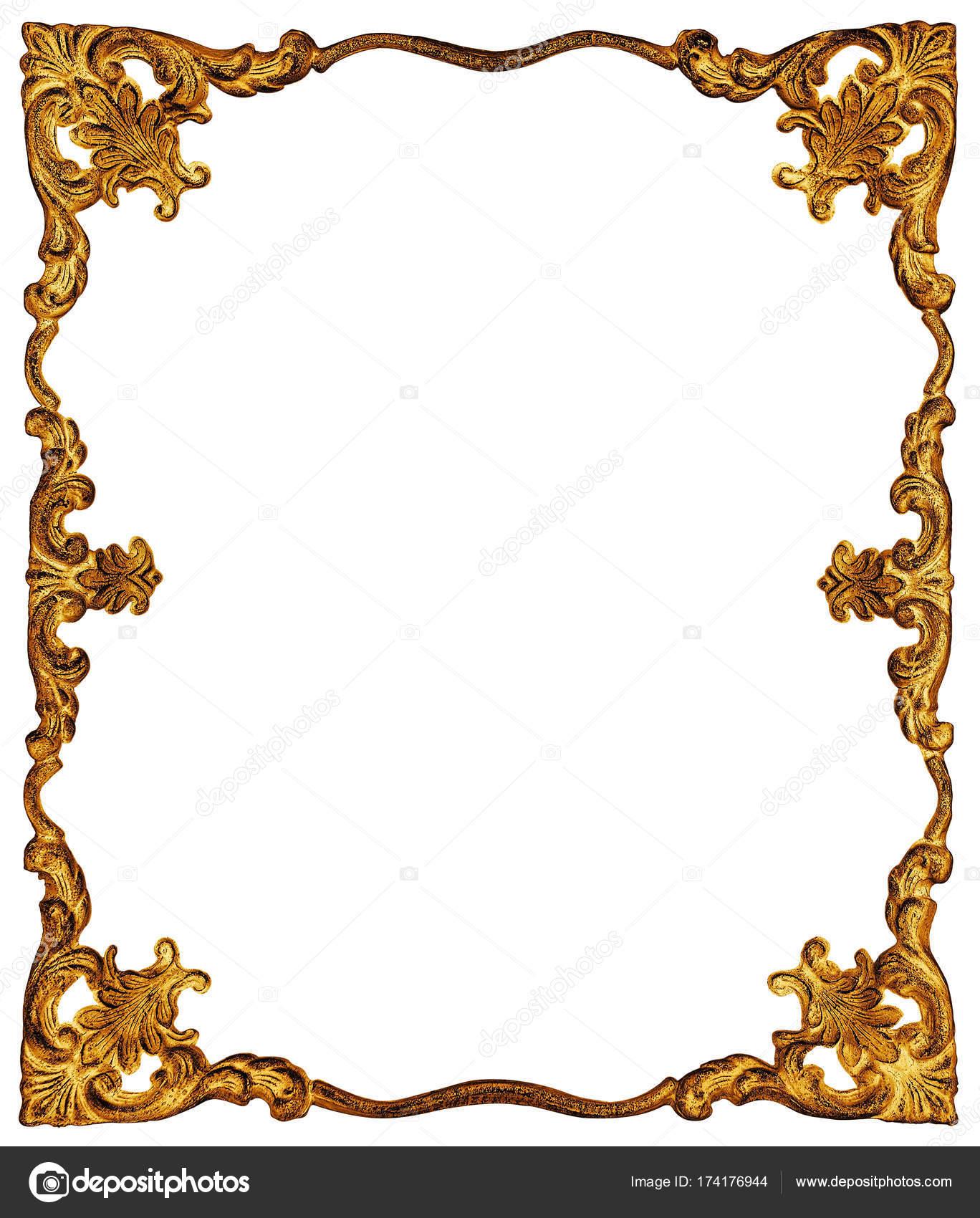 Golden frame isolated on white — Stock Photo © wabeno #174176944