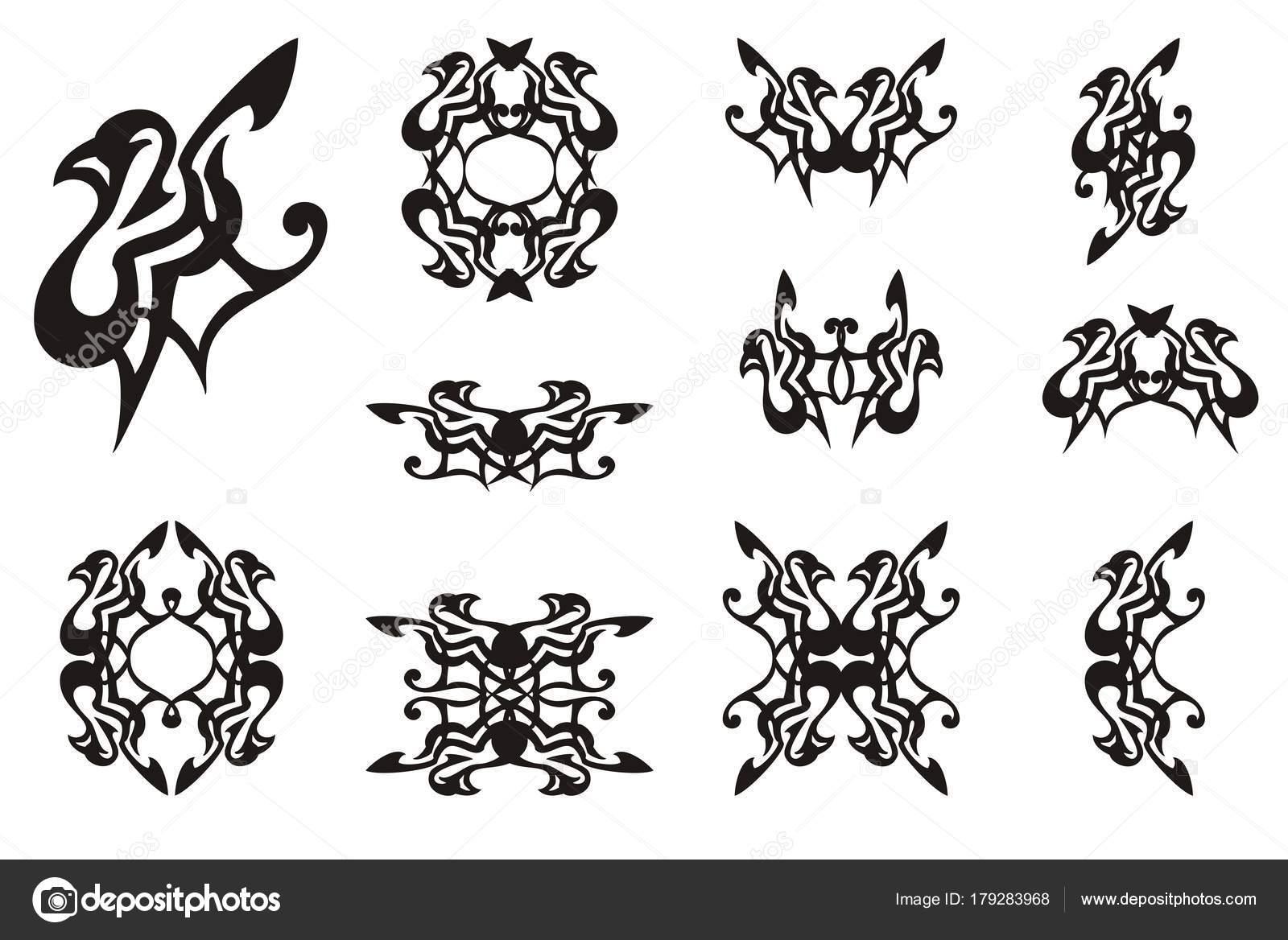 Decorative Dove Icons Laconic Dove Symbol Frames Double Symbols ...