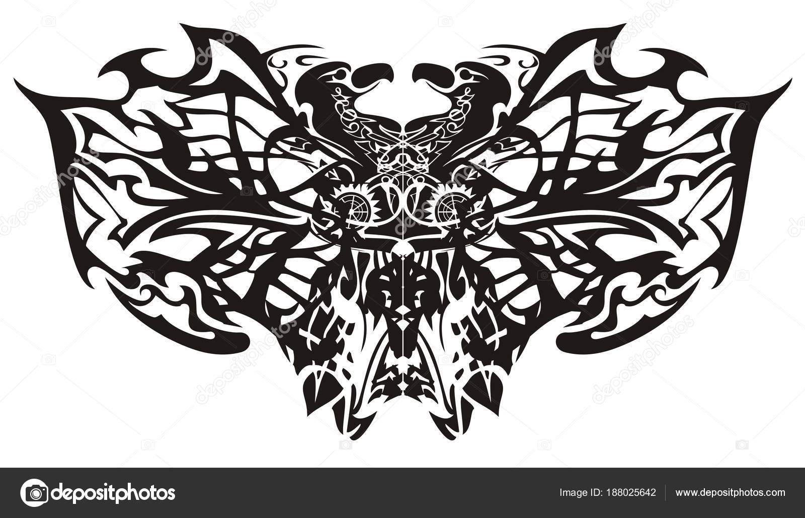 Ali Farfalla Tribale Fantastico Stilizzato Creativa Etnica Farfalla