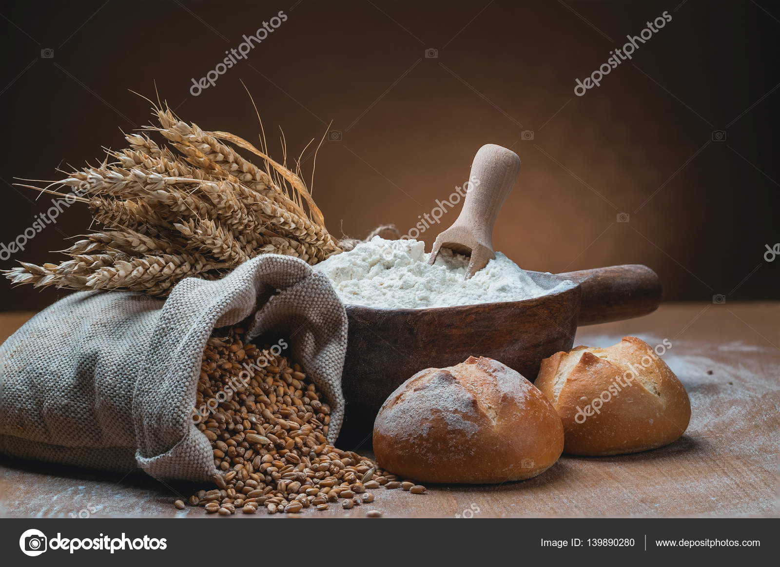 bakery products wallpaper — stock photo © fastudio #139890280