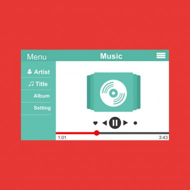 Music design. Online concept. Media illustration to enjoy their time, Suitable for landing page, ui, web, App intro card, editorial, flyer,and banner