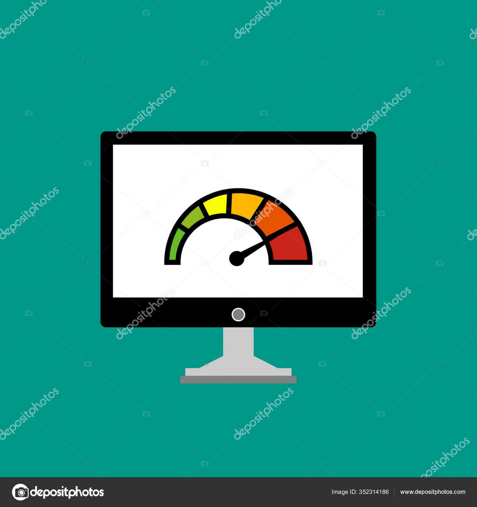 Speed Test Laptop Speedometer Internet Speed Technology Vector Illustration Stock Vector C Hani Stocker Gmail Com 352314186