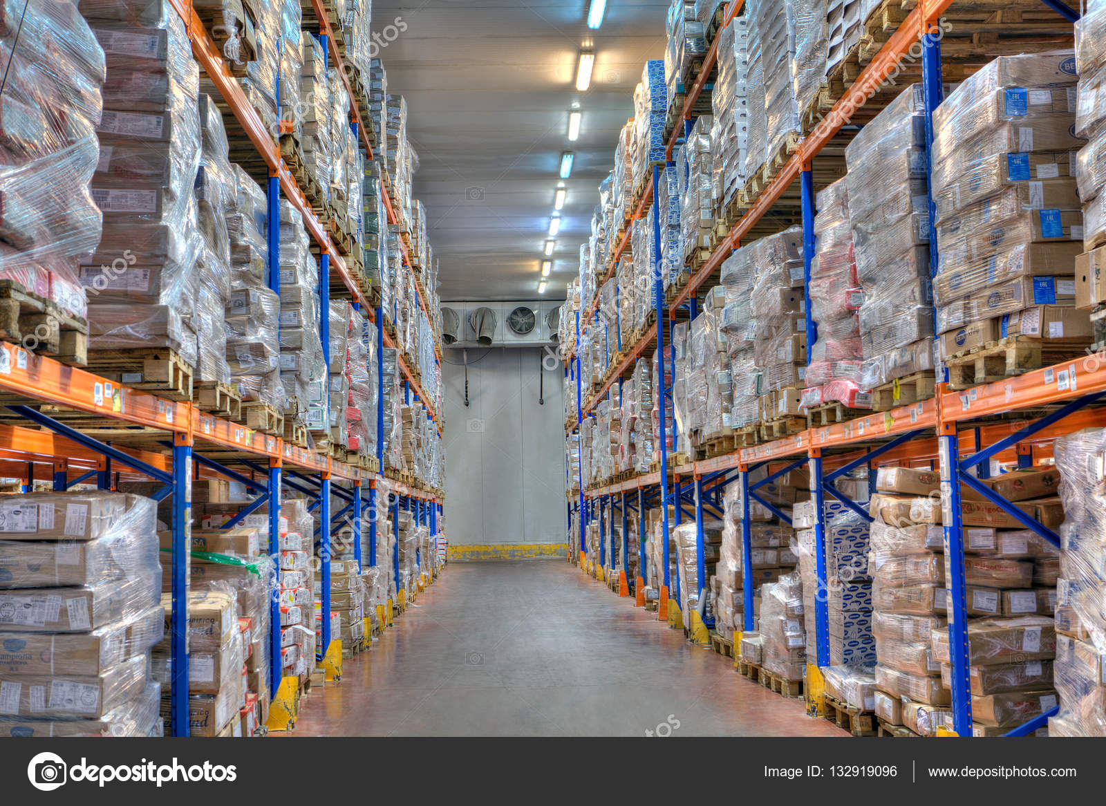 Saint-Petersburg Russia - October 31 2016 Shelves and racks in distribution cold storage warehouse interior. u2014 Photo by grigvovan & cold storage refrigerated warehousing frozen food u2013 Stock Editorial ...