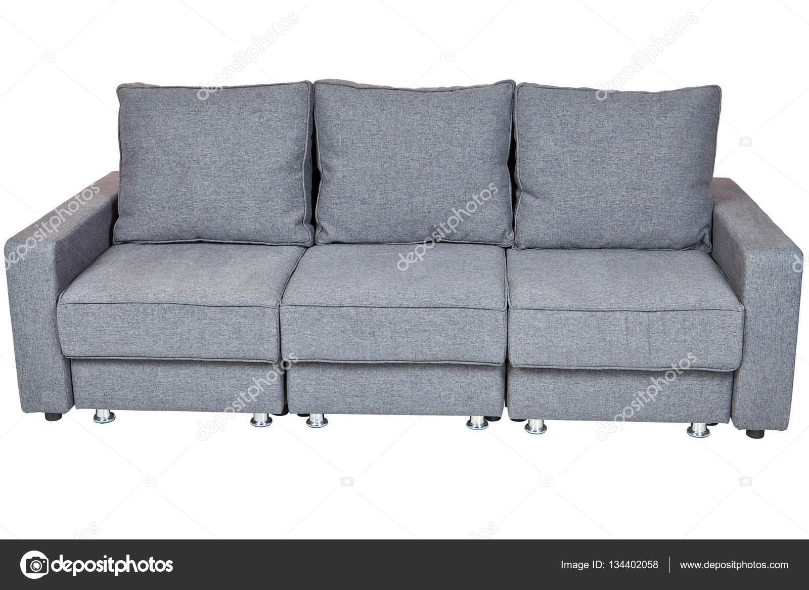 divano letto trasformabile con colore grigio — Foto Stock ...