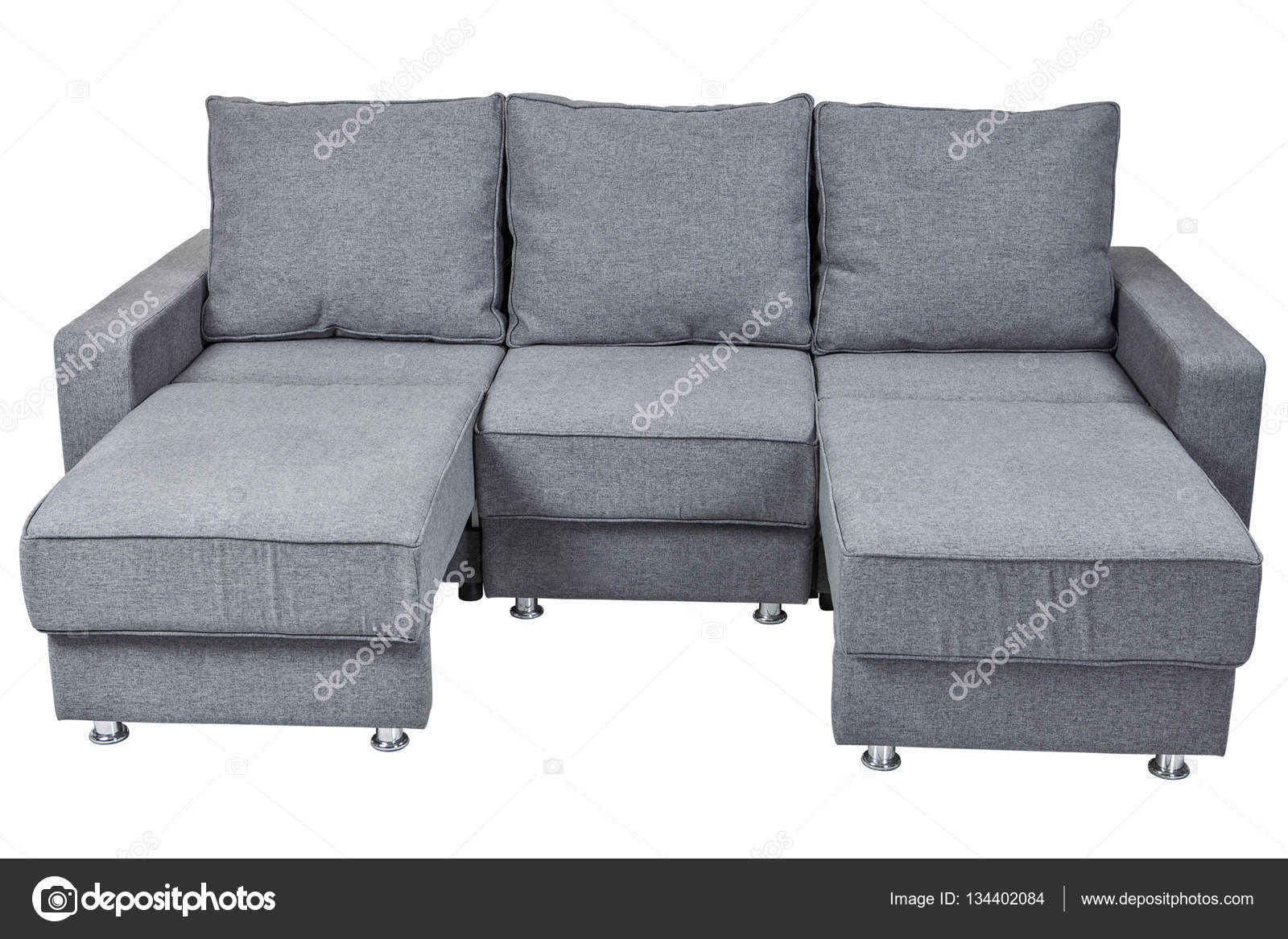 Einzigartig Ausklappbares Bett Foto Von Aufklsuperbbares Sofa-bett Mit Farbe Grau, Isoliert Auf