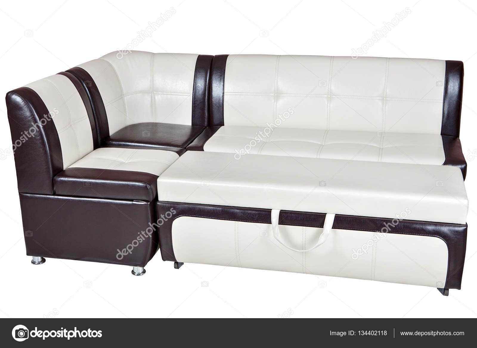 Divano Letto Bianco Ecopelle : Divano letto angolare in ecopelle mobili da sala da pranzo isolato
