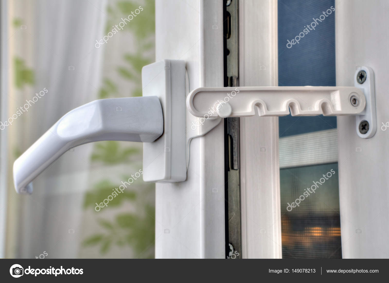 Use of restrictor opening PVC windows at airing the room. u2014 Stock Photo & Use of restrictor opening PVC windows at airing the room. u2014 Stock ...