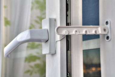 Use of restrictor opening PVC windows at airing the room.