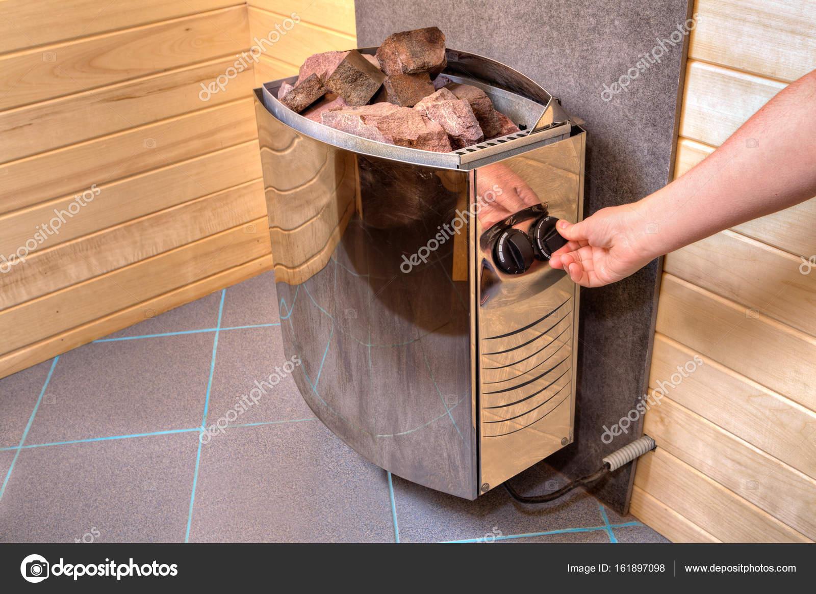 Sauna Poele Electrique main réglemente le panneau de commande le chauffage électrique poêle