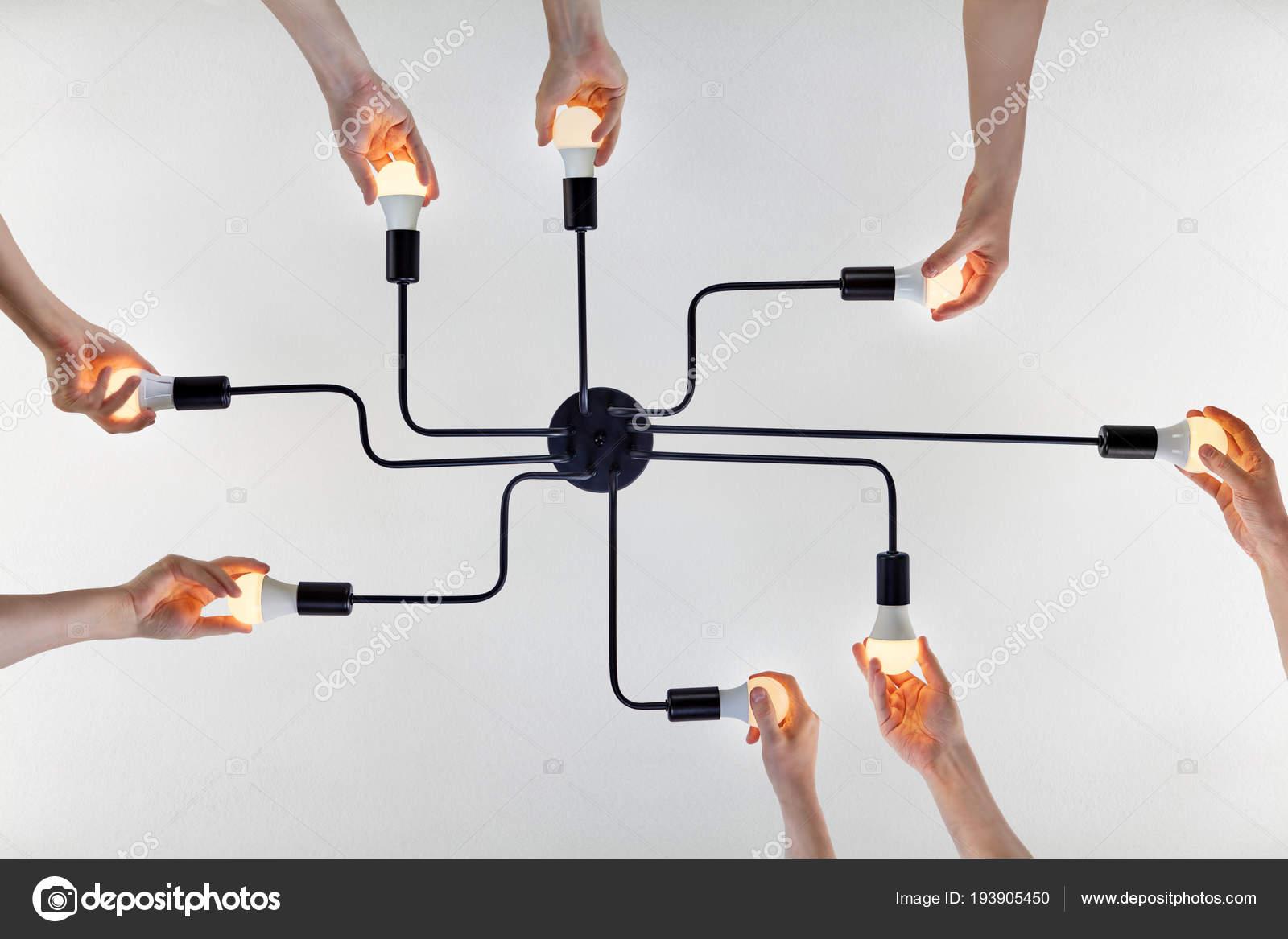 Led Birnen Kronleuchter ~ Teamwork von kollektiv bei der aktualisierung von led lampen in