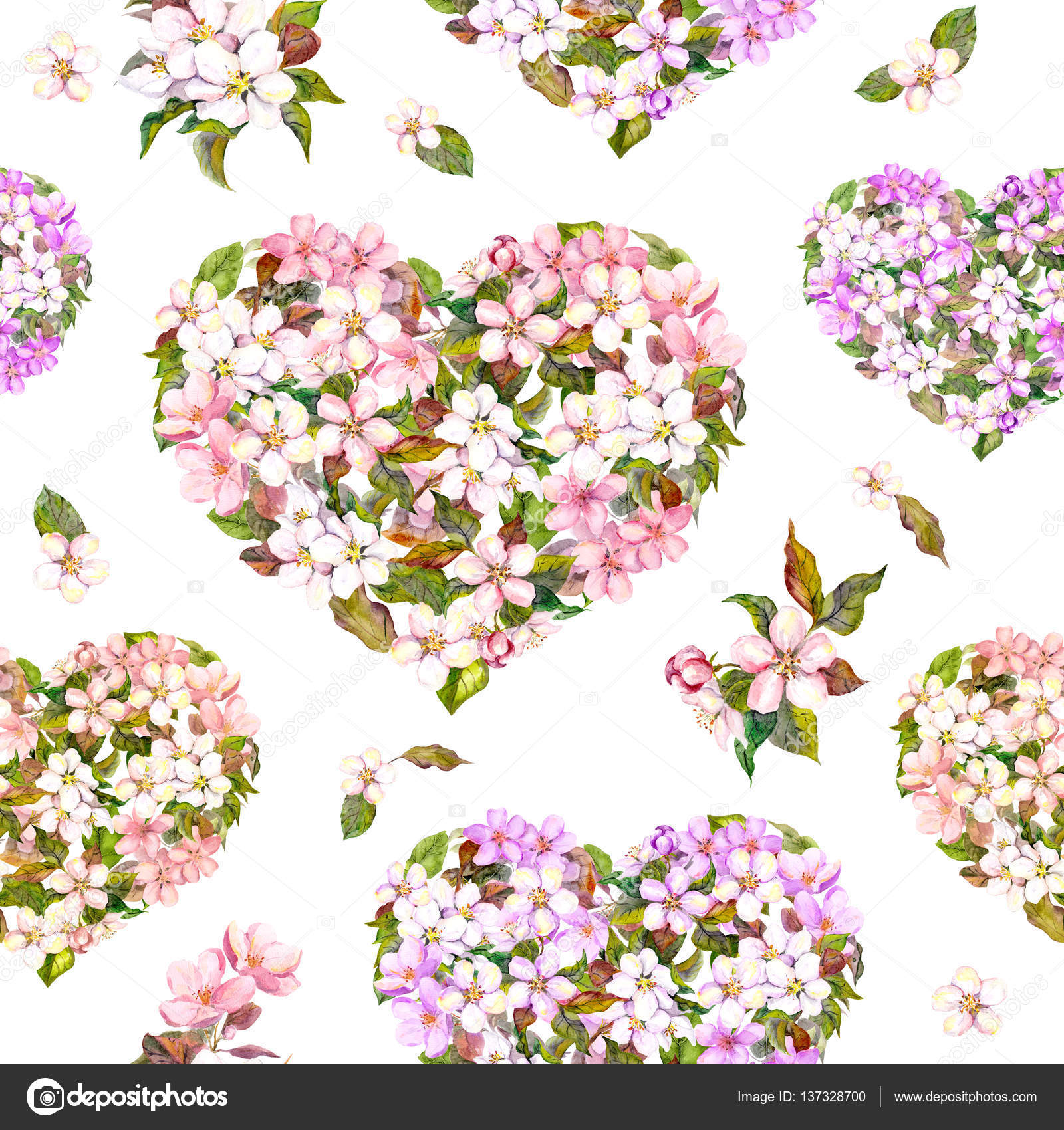 Seamless pattern for valentine day floral hearts with white and seamless pattern for valentine day floral hearts with white and pink flower cherry blossom mightylinksfo
